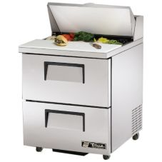 True® S/S 6.5 Cu Ft Salad / Sandwich Prep Table w/ 2 Drawers