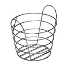 "American Metalcraft WBC907 9"" Round Chrome Wire Basket w/ Handles"