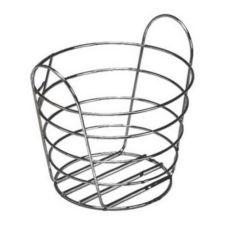 "American Metalcraft WBC705 7"" Round Chrome Wire Basket w/ Handles"