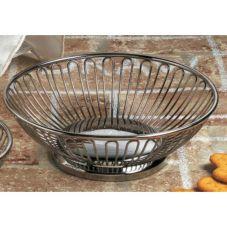 "American Metalcraft BSS8 8"" Round S/S Wire Basket"