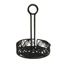"American Metalcraft LDCC18 Ironworks 7-3/4"" Iron Condiment Caddy"