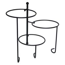 American Metalcraft TTRS3 3-Tier Twisted Wrought Iron Stand w/ Feet