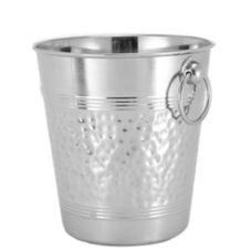 American Metalcraft WB9 Nickel-Plated Hammered Brass Champagne Bucket