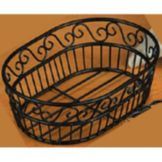 American Metalcraft OSC9 Scroll Pattern Wrought Iron 6 x 9 Inch Basket