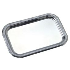 "American Metalcraft Royal Touch 18"" Rectangular S/S Serving Tray"
