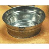 "American Metalcraft MTUB83 Round Natural Finish 3"" Galvanized Tub"