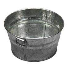 "American Metalcraft Round Natural Finish Galvanized 6"" Tub"