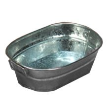 "American Metalcraft Round Natural Finish Galvanized 9"" Tub"