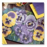 "Hoffmaster 310939 9.75"" x 14"" Pansies Placemat - 1000 / CS"