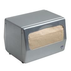 SCA Tissue 17TBS Tork Brushed Steel Tabletop 200 Napkin Dispenser