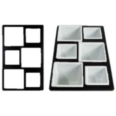 Bugambilia T0A3BB Black Single Tile System With 6 Square Openings