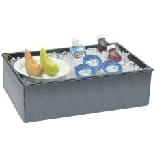 "Cal-Mil® 242-12-17 Charcoal 6"" Folding Beverage Housing"