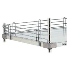 Metro® L60WC Super Erecta® 4 x 60 Chrome Plated Shelf Ledge