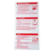 Afassco® 906 Emergency First Aid Card