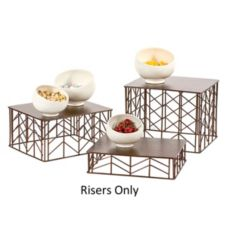 Buffet Euro 3 Piece Brushed Copper Riser Set