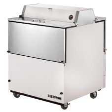 True® Dual Sided White Vinyl and S/S 13.8 Cu Ft Milk Cooler