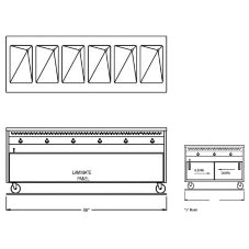 """Randell® RAN HTD-6S 86"""" Open Cabinet Base Hot Food Table"""