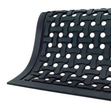 The Andersen Co. 420 Comfort Flow Black 2' x 3' Anti-Fatigue Floor Mat