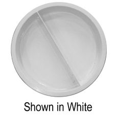 Bon Chef 5074 IVORY Sandstone Round 8 Qt. Divided Food Pan
