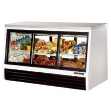 True® 6-Sliding Door Low-Height 25 Cu Ft Pass-Thru Deli Case