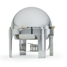 New York, New York Round S/S Chafer, 6 Qt