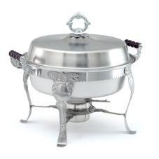 Royal Crest Round Satin Finish S/S Complete Chafer, 5.8 Qt