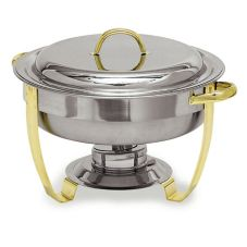 Carlisle® 609530 Nina™ 4 Qt. Round Stainless Steel Chafer