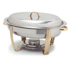 Carlisle® 609510 Pinta™ 6 Qt. Oval Stainless Steel Chafer