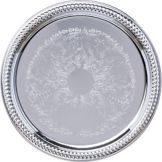 "Carlisle® Celebration™ 13"" Round Gadroon Tray"