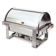 Carlisle® 609600 Manhattan™ 8 Qt. Stainless Roll-Top Chafer
