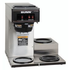 BUNN® Pourover S/S Coffee Brewer with 3 Lower Warmers