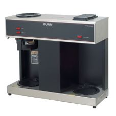 BUNN® 4275.0031 Black Pourover 12 Cup Coffee Brewer with 3 Warmers