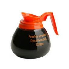 Bloomfield® Glass Decaf Coffee Decanter with Orange Handle