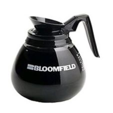 Bloomfield® Glass Black Handle Coffee Decanter w/ Bloomfield Logo