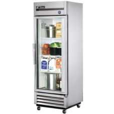 True® T-19G T-Series 19 Cu Ft Right Hinged Glass Door Refrigerator