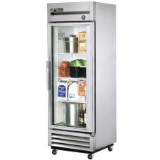 True® T-19G T-Series 19 Cu Ft Right Hinged Glass Door Refrigerator