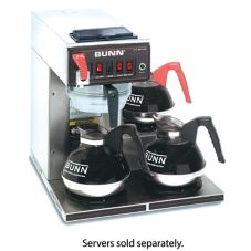 BUNN® CWTF-DV 12-cup S/S Automatic Coffee Brewer with 3L Warmers