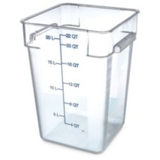 Carlisle 1072607 StorPlus 22 Qt. Square Clear Food Storage Container