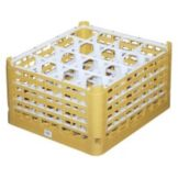 Vollrath 5276855 Gold Full Size Tall Plus 16-Compartment Glass Rack