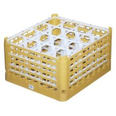 Full Size Tall Plus 16-Compartment Glass Rack, Gold
