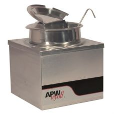 APW Wyott 4 Qt. Countertop Food and Fractional Warmer, w/ Lid, W-4Bpkg