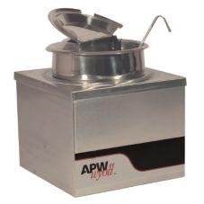 APW Wyott W-4B PKG 120V Countertop 4 Qt Warmer w/ Inset, Lid and Ladle