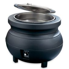 Vollrath 72175 Cayenne Black 11 Qt. Colonial Kettle Rethermalizer