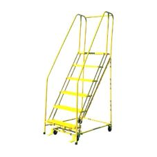 Industrial Products 1005R1820 5-Step Ladder With Handrails