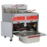 Vulcan Hart 170 lb Capacity S/S Gas Two Fryers with KleenScreen®