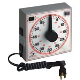 "Dimco-Gray 171-160R White 6-1/2"" Dial Electric 60-Minute Timer"