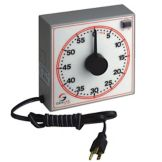 "Dimco-Gray 254-160R 6-1/2"" Dial Electric 60-Minute Gray Timer"
