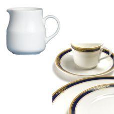 Steelite 42034324 Royal Court Gold Pia Blue 5-1/2 Oz Creamer - 24 / CS