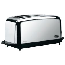 Waring® WCT704 Light Duty 120V Extra Long Two-Slot 4 Slice Toaster
