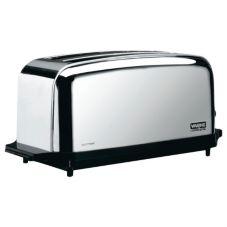 Waring® WCT704 Light Duty 120V Extra Long Two-Slot 4 Slice Toaster